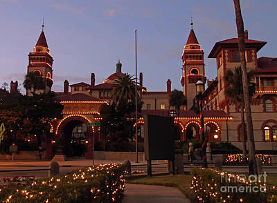 Photograph - Flagler College Night Of Lights by D Hackett