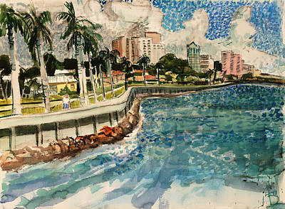 Painting - Flagler Drive by Thomas Tribby