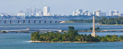 Photograph - Flagler Memorial Island And Biscayne Bay by Ed Gleichman