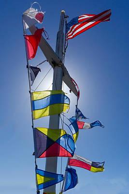 Photograph - Flags Ahoy by Derek Dean