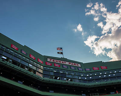 Photograph - Flags Over Fenway by Tom Gort