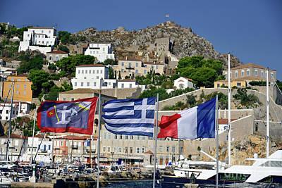 Photograph - Flags In Hydra Island by George Atsametakis