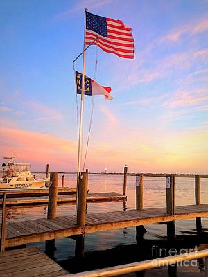 Painting - Flags In The Sunset by Shelia Kempf