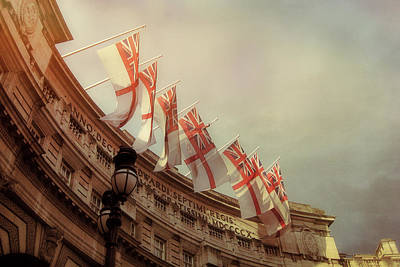 London Photograph - Flags Of London by JAMART Photography