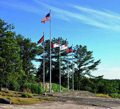 Photograph - Flags Of Stone Mountain  by David Lee Thompson