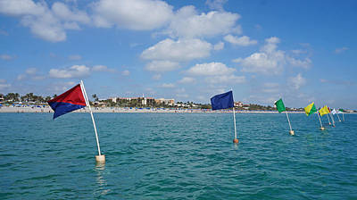 Photograph - Flags On The Water Delray Beach Florida by Lawrence S Richardson Jr