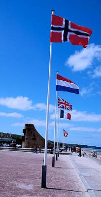 Photograph - Flags Over Normandy by Eric Tressler