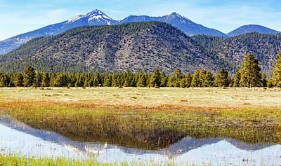 San Francisco Peaks Photograph - Flagstaff Arizona Mountains Reflected In Water by Susan Schmitz