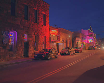 Photograph - Flagstaff In Neon by Ray Devlin