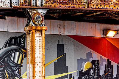 Photograph - Flairmax Industries Sponsors 2010 Chicago Fireman Mural V5 Dsc_0613 by Raymond Kunst