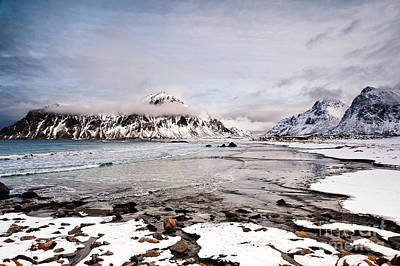 Flakstad Bay Art Print by Janet Burdon