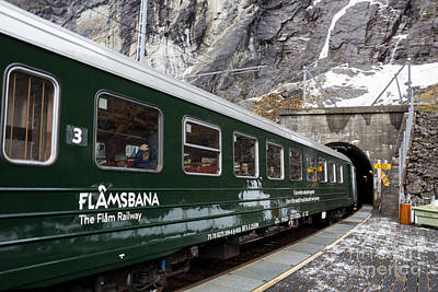 Flam Railway Art Print by Suzanne Luft