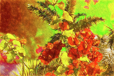 Photograph - Flamboyant Bougainvillea  by Kay Brewer