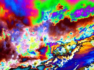 Digital Art - Flamboyant Cloudscape by Will Borden