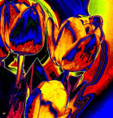 Flamboyant Tulips Art Print