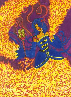 Painting - Flame Dancer by Artists With Autism Inc