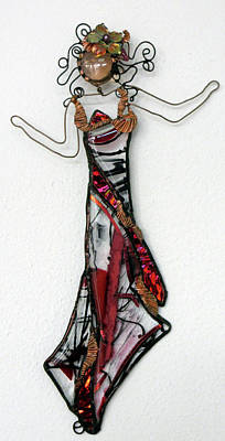 Glass Art - Flame Dancer by Maxine Grossman