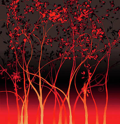 Painting - Flame Forest by Susan Maxwell Schmidt