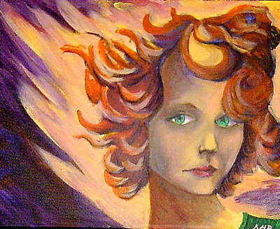 Diane Peters Painting - Flame Hair by Diane Peters