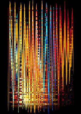 Flame Lines Art Print by Francesa Miller