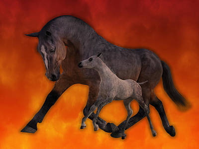 Playing Digital Art - Flame N Firehouse  by Betsy Knapp