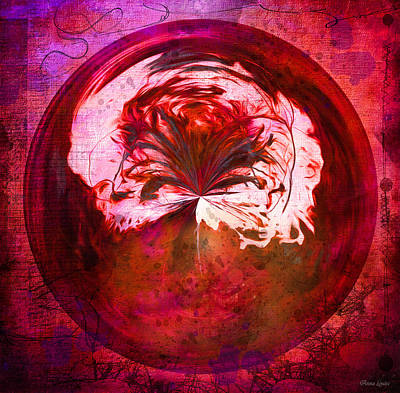 Photograph - Flame Nature Orb by Anna Louise