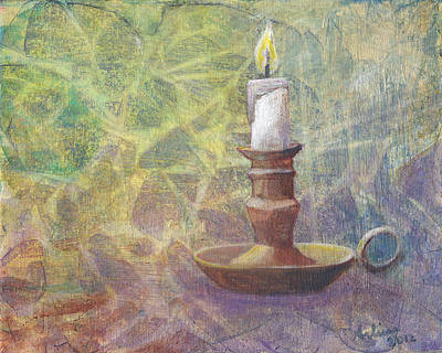 Candle Lit Painting - Flame Of Hope by Arlissa Vaughn