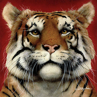 Bengal Tiger Painting - flame of India ... by Will Bullas
