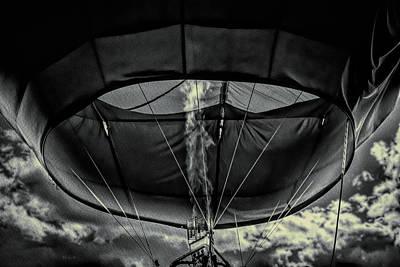 Whimsical Photograph - Flame On Hot Air Balloon by Bob Orsillo