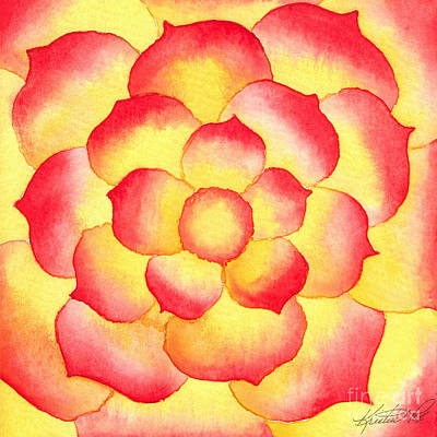 Painting - Flame Tip Watercolor by Kristen Fox