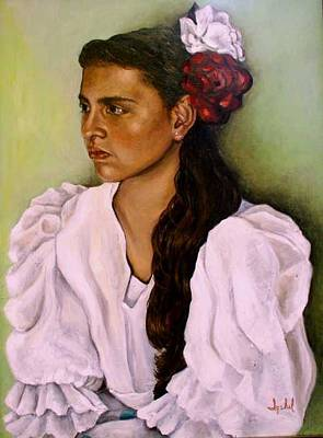 Flamenca Art Print by Ixchel Amor