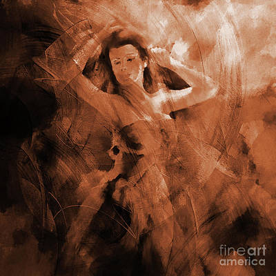 Fiesta Painting - Flamenco Dance 02 by Gull G