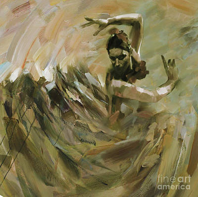 Ballet Painting - Flamenco Dance 562 by Gull G