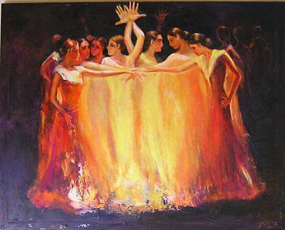Painting - Flamenco Dance Of Light by Sylva Zalmanson