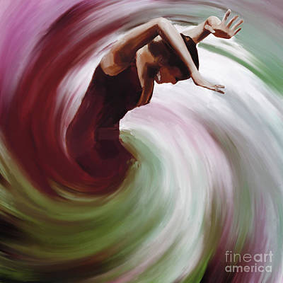 Strength Painting - Flamenco Dance Twisting  by Gull G