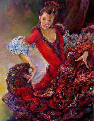 Painting - Flamenco Dancer 10 by Sylva Zalmanson