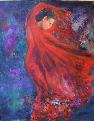 Painting - Flamenco Dancer 3 by Sylva Zalmanson
