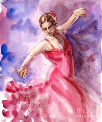 Painting - Flamenco Dancer 6 by Asha Sudhaker Shenoy