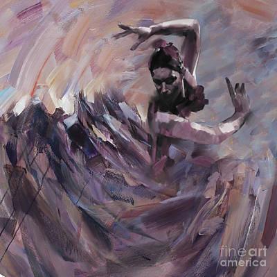 Strength Painting - Flamenco Dancer Art 45 by Gull G