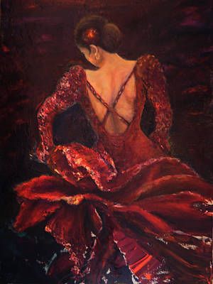 Painting - Flamenco Dancer Ma by Sylva Zalmanson