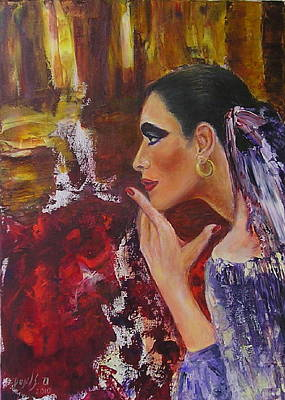 Flamenco Dancer  Mb Art Print