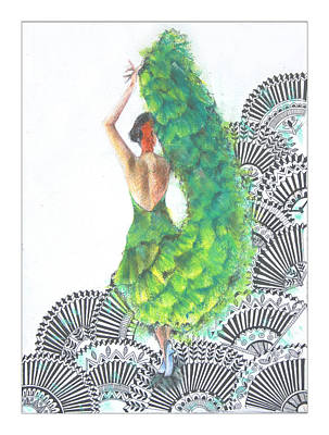 Madhubani Painting - Flamenco Dancer by Mrunal Limaye