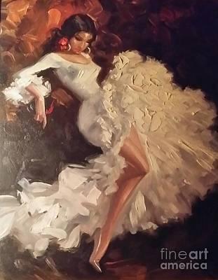 Flamenco Mixed Media - Flamenco Dancer by Shayna Monroe