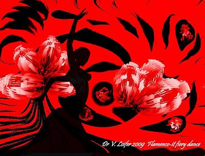 Digital Art - Flamenco-fairy Dance by Dr Loifer Vladimir