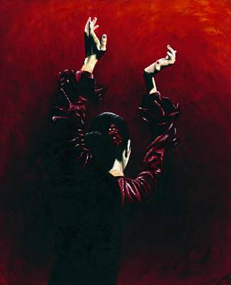 Shadow Dancing Painting - Flamenco Fire by Richard Young