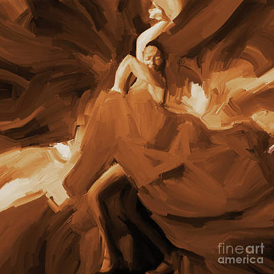 Art Print featuring the painting Flamenco Flamenco  by Gull G