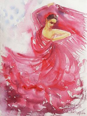 Painting - Flamenco Frenzy by Asha Sudhaker Shenoy