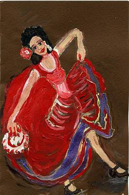 Flamenco Mixed Media - Flamenco Girl by Anna Angelou