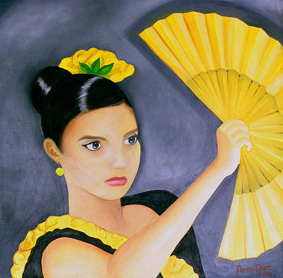 Flamenco Girl Art Print by Fanny Diaz