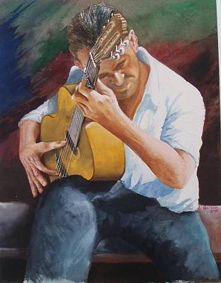 Painting - Flamenco Guitar by Charles Hetenyi